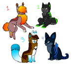 Some Adoptables by Falkz-Adopts