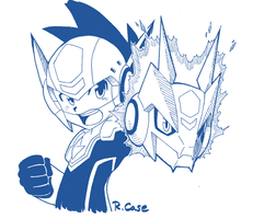 Ink Doodle MegaMan by rongs1234