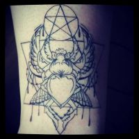 Wiccan Scarab Tattoo Session 1 by decaymyfriend