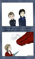 Sherlock and a Hobbit by saoirsesushi