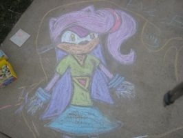 Scetch of Ember in chalk by Artistic-Resonance