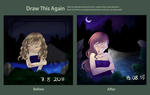 Draw it again: sad former angel by chocobeery