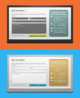 Freebie: 2 Custom Contact Forms PSD Template by yahya12