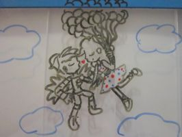 You have wings, I have balloons by Drawing-Stars-02