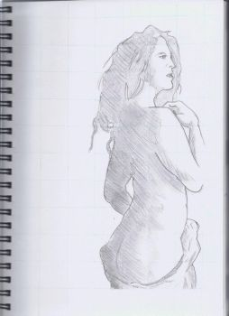 Life drawing - Woman's back by Atomicvege