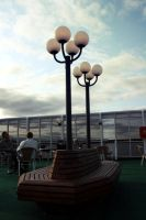 Lampposts on the boat by mkrtchyan