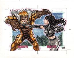Women of marvel sketch card by JASONS21