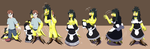Comission: A Maid Hired!! (Anthro Chocobo TF TG) by PhoenixWulf
