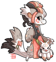 #137 Mythcial Bagbean - Nine tail fox AUCTION CLOS by griffsnuff