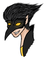 Crow Man (colored) by theWeaverofTales