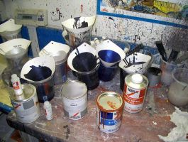 Paint pots by retsbom