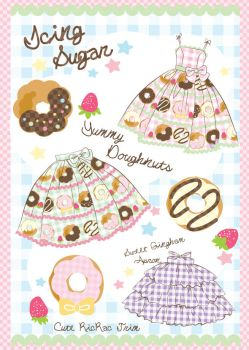 Cute Doughnut Gingham Concept by decora-rockstar