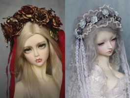 New ooak flower headbands by AyuAna