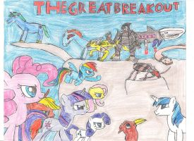 The Great Breakout Poster by dragonwar23