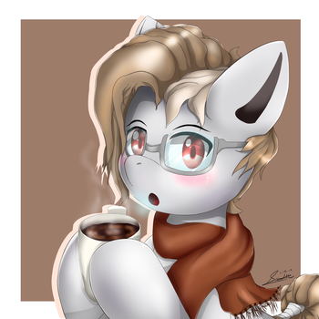 PHB - Art trade,Mocha Cup by NihiTheBrony