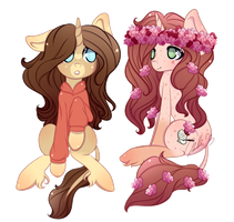 :AT: Pixel and Lavender Honey by CutieInk