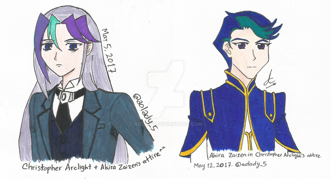 [Zexal x VRAINS] Chris and Akira - Clothes Swap!! by AoLady