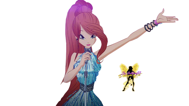 World of Winx Bloom Rock Star Png by Gallifrey93