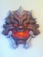 World of Warcraft Shield Pandaria Papercraft -1 by panda2091