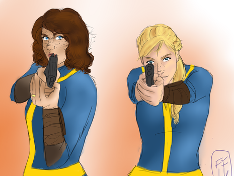 Straight Outta Vault Tec by Silverwing100