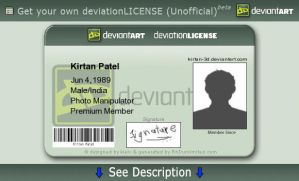 Get your deviationLICENSE by Kirtan-3d