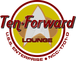 Pop Culture Ten-Forward Lounge Logo by viperaviator