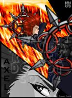 KH: Axel by LadyNyaruInfinity