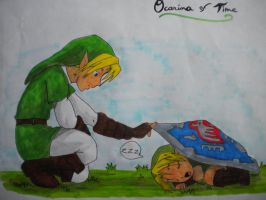 Old Link and Young Link by Shangwi
