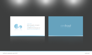 Rimfrost business card by Fictionfourtyfour