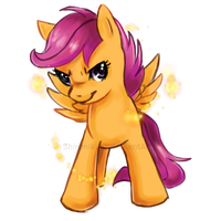 Awesome and Cool ? - Scootaloo by Shironiki