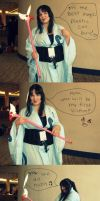 Yuko finds the Clow staff by DascocoCosplay