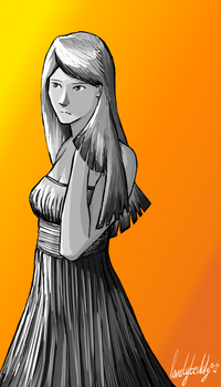 Young woman in a dress by lonelyteddy