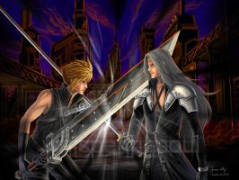 FF7: Cloud Vs. Sephiroth by WhisperingSoul