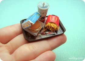 Miniature Mcdonalds meal by Aiclay