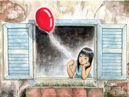 Red Balloon by truonggiang-kts