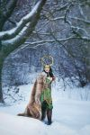 Loki in snow by ZoeVolf
