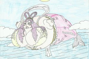 inflates Shirahoshi by SHADOWLOUIX