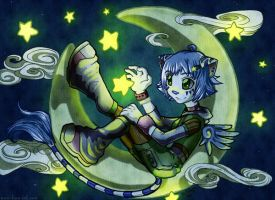 Lue has the Moon by kina