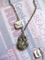 Owl Mail Necklace by candymonsters