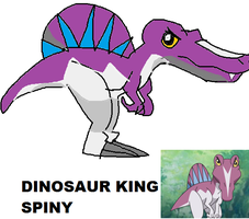 Spiny from Dinosaur King by Me-MowTheCat