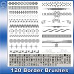 120 Border Brushes by Trash63