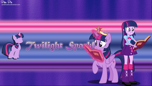 Twilight Sparkle Wallpaper by PandFStudios
