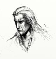 Geralt - Sketch by Werlioka