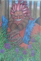 Akuma In The Forest by Yusiley