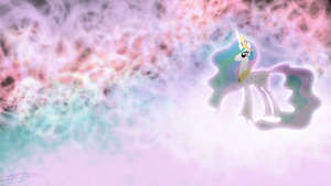 Princess Celestia - Colorful Clouds by Jamey4