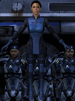 Ashley Madeline Williams from Mass Effect 2 and 3 by Melllin