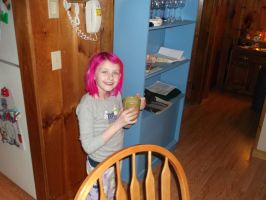 Mackenzie drinking hot chocolate by forever-at-peace