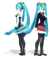 .: DL Series :. School Ula Miku Hatsune by Duekko