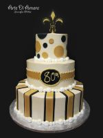 Black and Gold Cake by ArteDiAmore