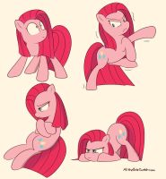 Pinkamena Poses 2 by Allthebitz